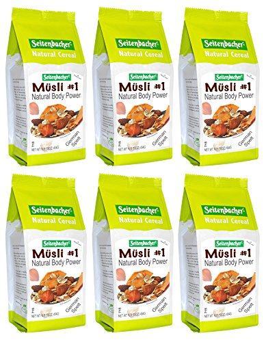 (Seitenbacher Muesli Cereal #1 - Natural Body Power - Apple and Hazelnuts, 16 ounces (Pack of 6))