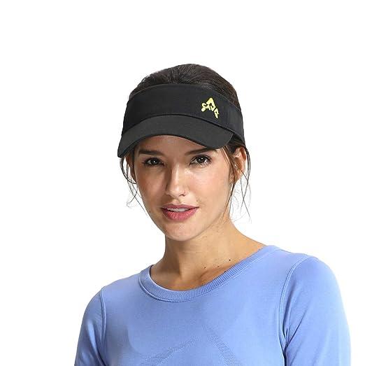 new style 3c337 8ccd5 VCAVA Sun Visor for Women Summer Outdoor Cap Baseball Running Golf Hats  (Black)
