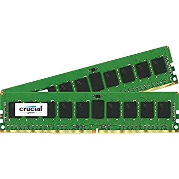 Crucial 16GB Kit (8GBx2) DDR4 2133 MT/s (PC4-17000) SR x4 RDIMM 288-Pin Server Memory - CT2K8G4RFS4213
