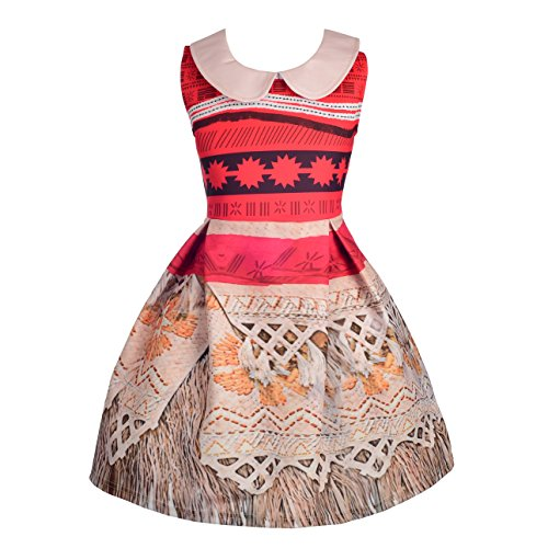 Dressy Daisy Girls Dress Up Princess Moana Costumes Adventure Outfit Halloween Costume Size 2T / -