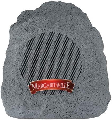 Margaritaville On The Rock Outdoor Bluetooth Wireless Speaker Durable Bluetooth Speakers, Fantastic Yard or Patio Decor, IPX-4 Waterproof Rated, Granite Grey