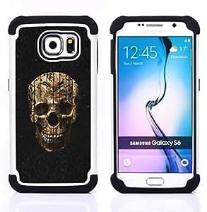 """Pulsar ( Cráneo de Halloween Evil Death Metal"""" ) Samsung Galaxy S6 / SM-G920 SM-G920 híbrida Heavy Duty Impact pesado deber de protección a los choques caso Carcasa de parachoques"""