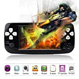 Handheld Game Console,YANX 4.3'' Classic 64Bit Portable Video Game With 600 Games Built in Console Game Player Birthday Gifts for Boy Kids Children (Black)