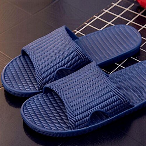 Byste Flat Bath Slippers Summer Sandals Beach Shower Shoes Anti Slip Indoor & Outdoor Home Massage Wear Rubber Gladiator Men Englon Antiskid Flip Flops Navy aGtXR