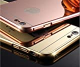 iPhone 6 Case. Stylish, Lightweight, Metal, Bumper, and Mirror Back. Have a New Look for your iPhone 6 Every Day. Enjoy Protection, Convenience, Style and Low Cost, ALL TOGETHER! (Rose Gold)
