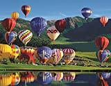 hot air balloon puzzle - Springbok Puzzles - Balloon Bonanza - 350 Piece Jigsaw Puzzle - Large 23.5 Inches by 18 Inches Puzzle - Made in USA - Unique Cut Interlocking Pieces - Large Pieces - Easy to Pick and Place