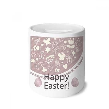 DIYthinker Festival Feliz Pascua púrpura Huevo Estrella Caja de Dinero de Las Cajas de ahorros de cerámica Adultos Moneda de la Caja para niños: Amazon.es: ...