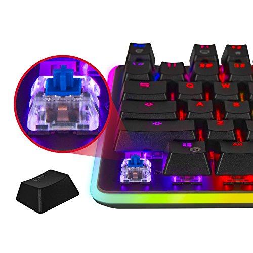 شراء Rosewill Mechanical Gaming Keyboard, RGB LED Glow Backlit Computer Mechanical Switch Keyboard for PC, Laptop, Mac, Software Customizable - Professional Gaming Blue Mechanical Switch