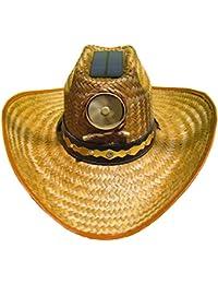Cooling Sun Straw Solar Men's Palm Leaf Cowboy Hat w. Band Small