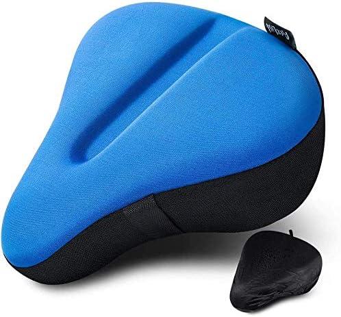 AceList Bike Seat Cushion Cover Fits Stationary Bikes Wide Exercise Bike Seat