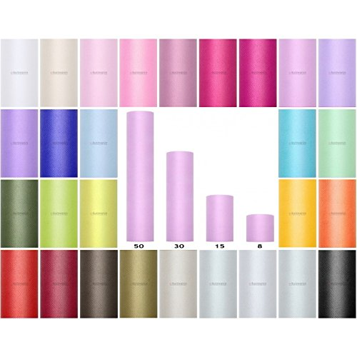 Bobina Di Tulle 8//15//30//50//80cm Rotolo Di Tulle 9m 20m Decorazione Ideale Per Matrimonio Tutu Banchetto Craft Colori Poliestere Floreali