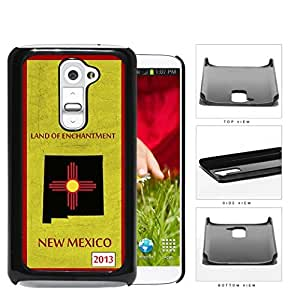 New Mexico State Tag Grunge Scrapes Hard Plastic Snap On Cell Phone Case LG G2