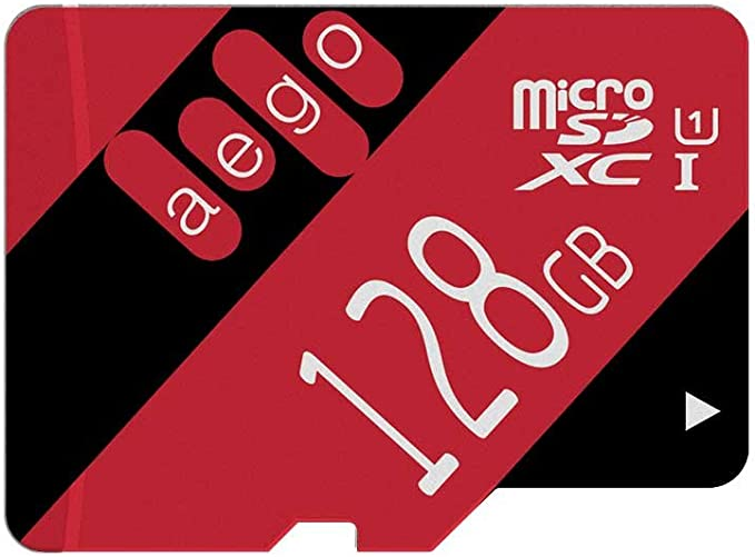 AEGO 128GB Micro SD Card UHS-1 Class 10 Memory Card with Adapter for Gopro Hero/Nikon/Drone-U1 128GB