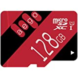 AEGO 128GB Micro SD Card UHS-1 MicroSDXC Card Class 10 Memory Card with Free Adapter for Tablets/Dash Cam/Drones-U1 128GB