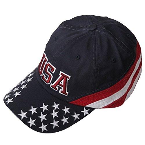 623cb127b79 MG Patriotic Cap - Navy USA Star OSFM at Amazon Men s Clothing store  Baseball  Caps