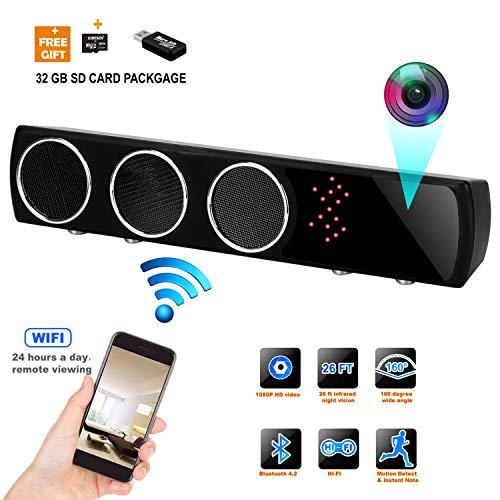 Hidden Camera WiFi HD 1080P Spy Surveillance Camera Motion Detector Night Version 24 Hours Real-time Monitoring (Black)