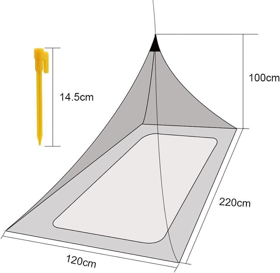 /Zanzariera per letto singolo campeggio mesh Triangle appeso zanzariera protezione contro insetti e zanzare Jtdeal zanzariera poliestere verde militare/