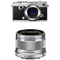 Olympus PEN-F Mirrorless Camera (Silver) with 25mm Lens
