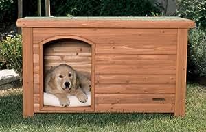 "Precision Pet Outback Log Cabin Dog House, Medium, 45 1/2"" x26 5/8"" x 27 1/2"""