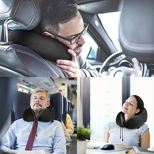 Homiee Travel Pillow Memory Foam Neck Pillow 360 176 Head