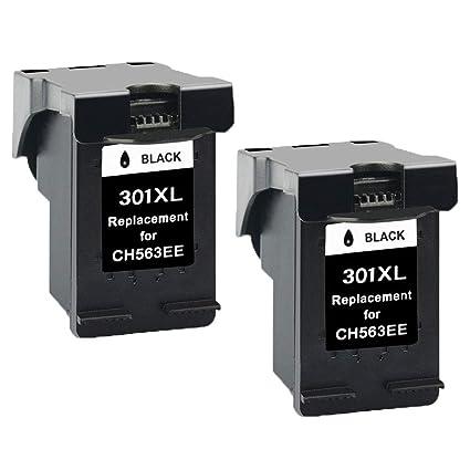 2x Negro Cartuchos de Tinta Remanufacturado HP 301 XL 301XL ...