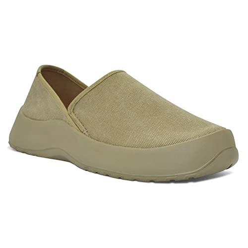 SoftScience Unisex Drift Canvas Slip-Ons Khaki M3/W5