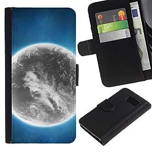 All Phone Most Case / Oferta Especial Cáscara Funda de cuero Monedero Cubierta de proteccion Caso / Wallet Case for Sony Xperia Z3 Compact // Grey Planet Alien World Art Bright Atmosphere