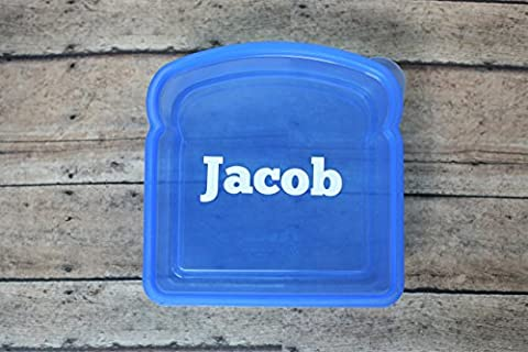 Blue Personalized Sandwich Box - Banded Box