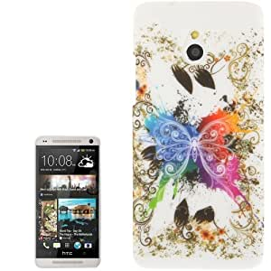 Butterfly Plastic Pattern Case Cover Carcasa para HTC M4 One mini