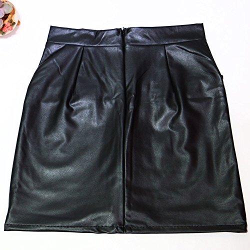 Sude BEAUTY Court Haute Cuir Taille Femme Wetlook Jupe Jupes WONDER Mini Mini Une Latex Ligne PVC TH6wp
