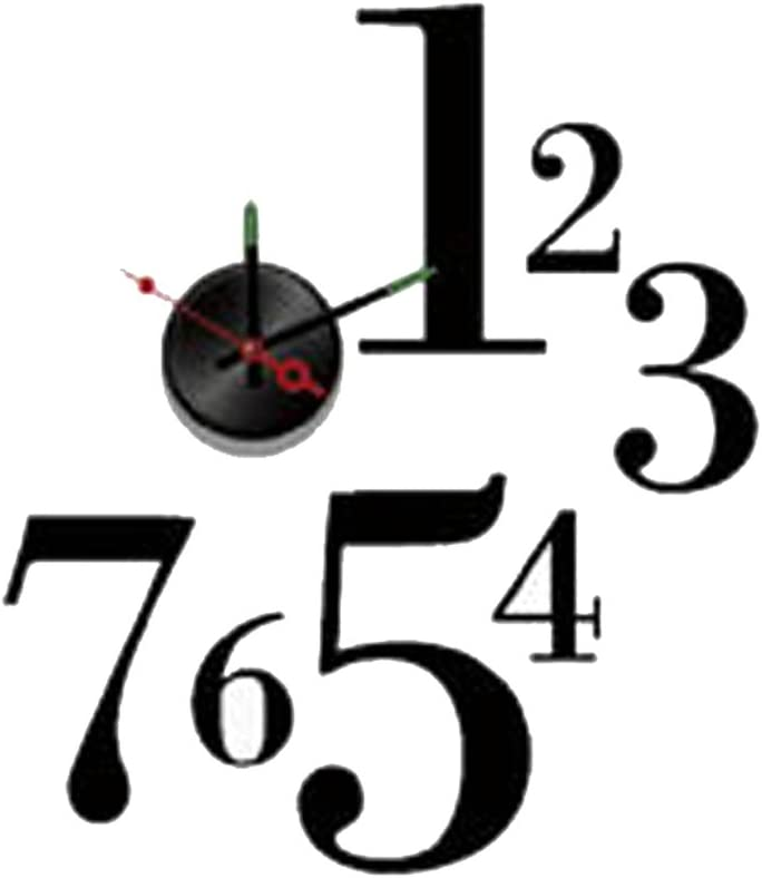 Modern Home Self Adhesive DIY 3D Wall Clock - One-to-Seven
