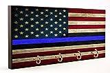 Brotherhood Law Enforcement Thin Blue Line Red White & Blue Flag Dog Leash and Key Hanger