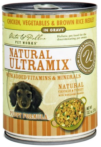 Castor and Pollux Ultramix Puppy Fomula Chicken, Vegetables and Brown Rice Medley, 13.2-Ounce Cans (Pack of 12), My Pet Supplies
