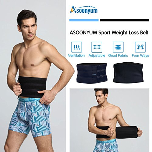 6eb32591175a4 ASOONYUM Waist Trainer Trimmer Shaper for Women Men Weight Loss ...