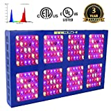1200W LED Plants Growing Light,MEIZHI Reflector Grow Lamps Full Spectrum Dual Switches for Indoor Greenhouse Tent Veg Flowers- 240pcs High Bright LEDs,Same Output as Other Brand 1800W 2000W Lights