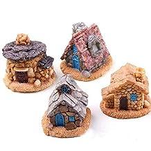 CFHKStore 1 Pc Miniature Stone House Fairy Garden Colors Random