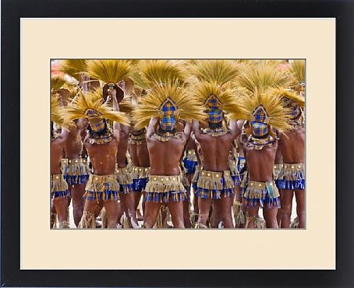 Festival Costumes In The Philippines (Framed Print of Parade at Dinagyang Festival, City of Iloilo, Philippines)