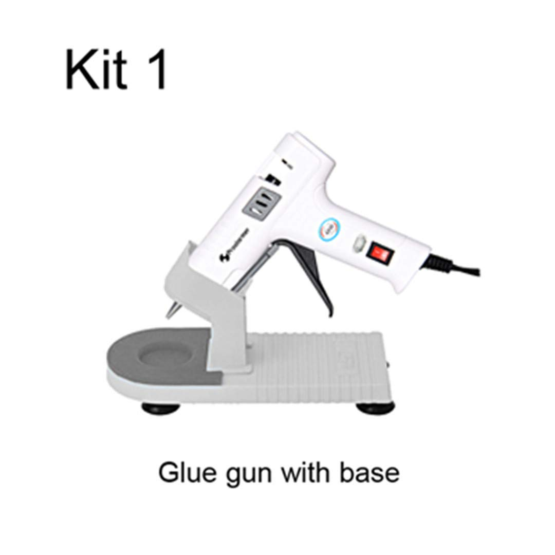 40W Hot Melt Glue Gun Glue Stick Industrial Mini Gun Professional Base Hot Temperature Tool Bracket 7Mm Set Glue gun with base 40W UK