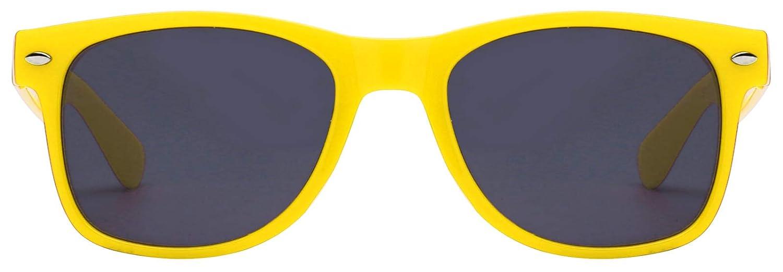Ladies Yellow Frame Vintage Smoke Lens Sunglasses Retro 80/'s OWL.