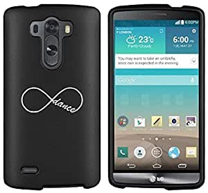 LG G4 Snap On 2 Piece Rubber Hard Case Cover Infinity Infinite Dance Forever (Black)
