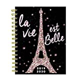Paris Sparkle Eiffel Tower Medium Daily Weekly Monthly 2020 Planner : July 2019 - June 2020 (Academic School Year, Student Planner)
