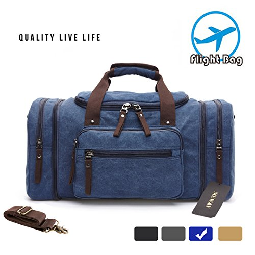 Canvas Overnight Bag Travel Duff...