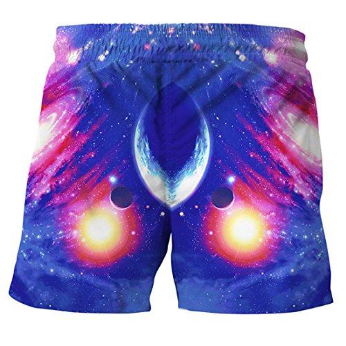 Hommes Comme Vrac Imprimé Image Univers Plus Bain Taille Surf Maillot Shorts En Drôle De Ai Plage moichien Rapide Séchage À 5qS7U