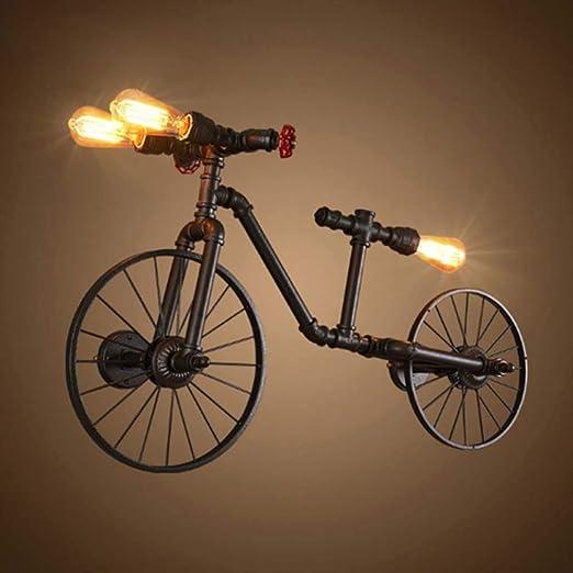 LongLong lámpara de Pared 3 Luces de Bicicleta de Metal de Hierro ...