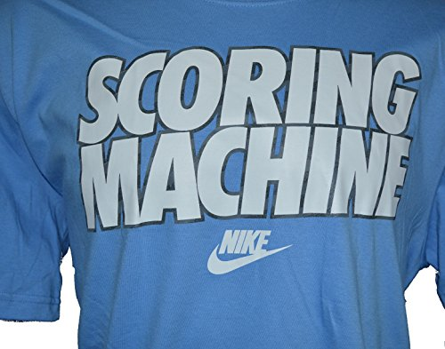 Nike Men's Scoring Machine Graphic T-Shirt-Light blue-XL