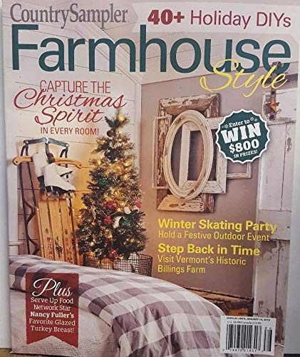 Country Sampler Magazine Farmhouse Style Holiday 2018 Christmas Spirit -