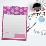 Prancheta Calendário Planner 12 Folhas Personalizadas - Pink