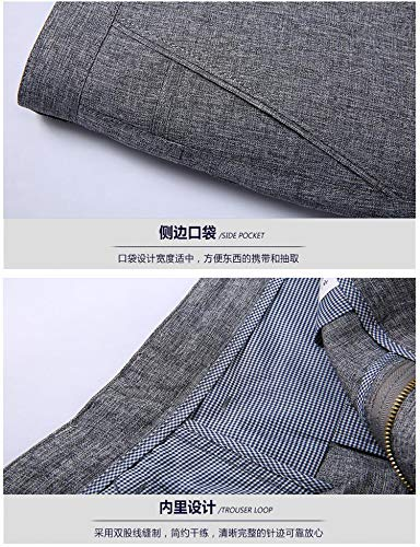 mince Fit hiver Pantalon Slim B Coupe Chino Automne Agées Personnes Droite Foncé Epaissi Gris Homme Casual Wslcn Business OT7gqqY