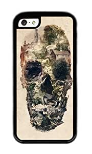 Apple Iphone 5C Case,WENJORS Cool Skull Town Soft Case Protective Shell Cell Phone Cover For Apple Iphone 5C - TPU Black