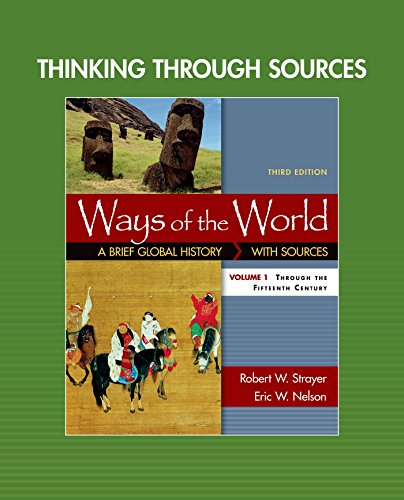 Thinking through Sources for Ways of the World, Volume 1